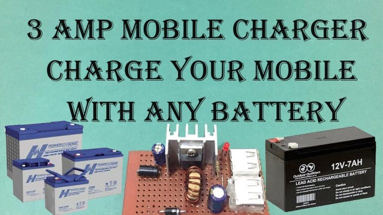 12 v to 3 amp Mobile Charger