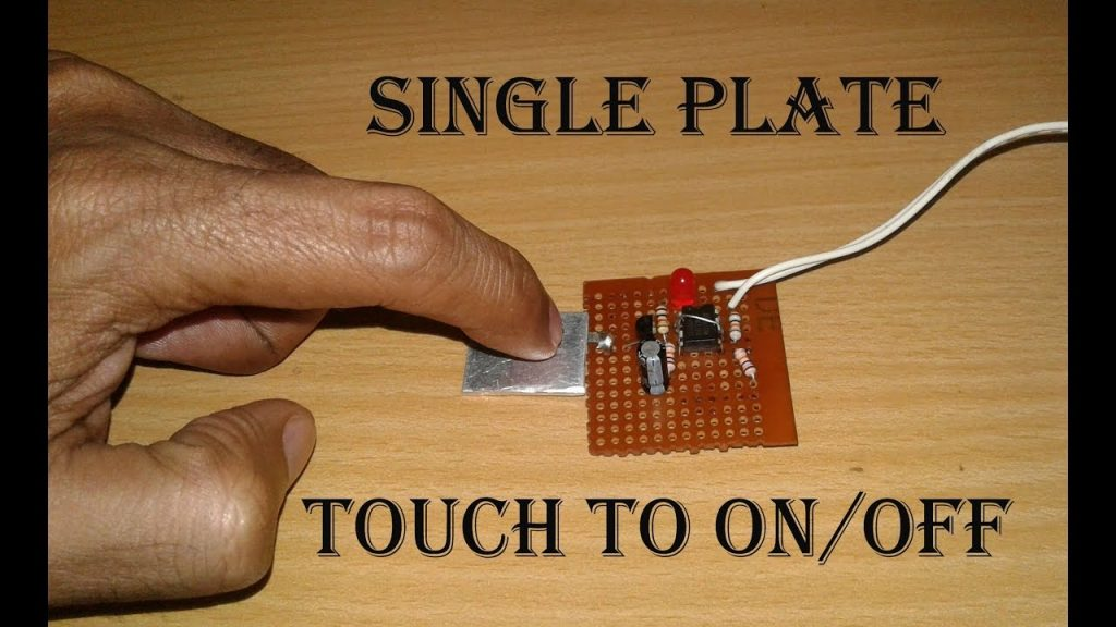 single plate TOUCH SWITCH circuit diagram