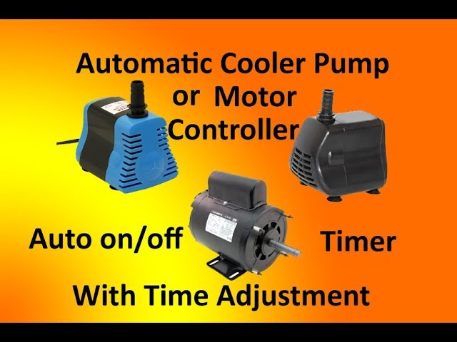automatic cooler pump controller