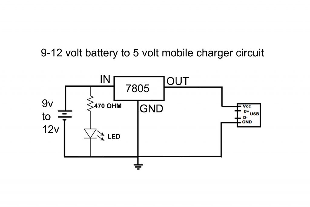 Emergency charger With 9V Battery