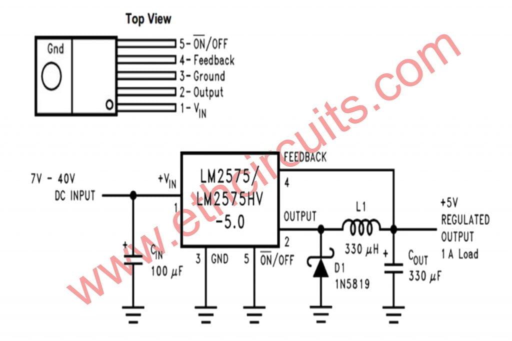 Buck Converter Circuit LM2575