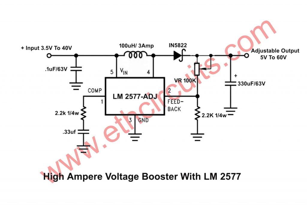 High AMP Adj. Voltage Booster