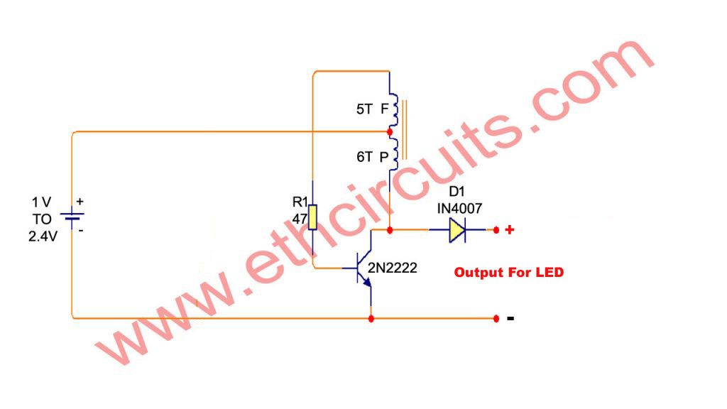DC to DC Voltage Booster circuit diagram