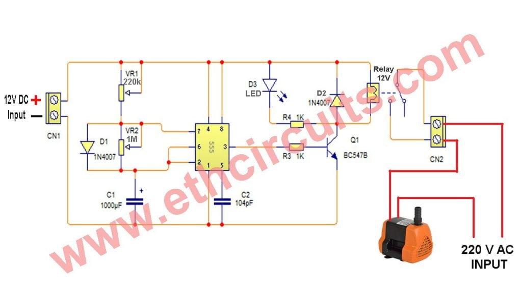 Automatic Cooler Pump controller circuit