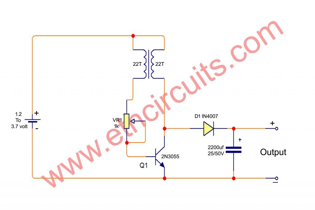 dc to dc boost converter circuit diagram