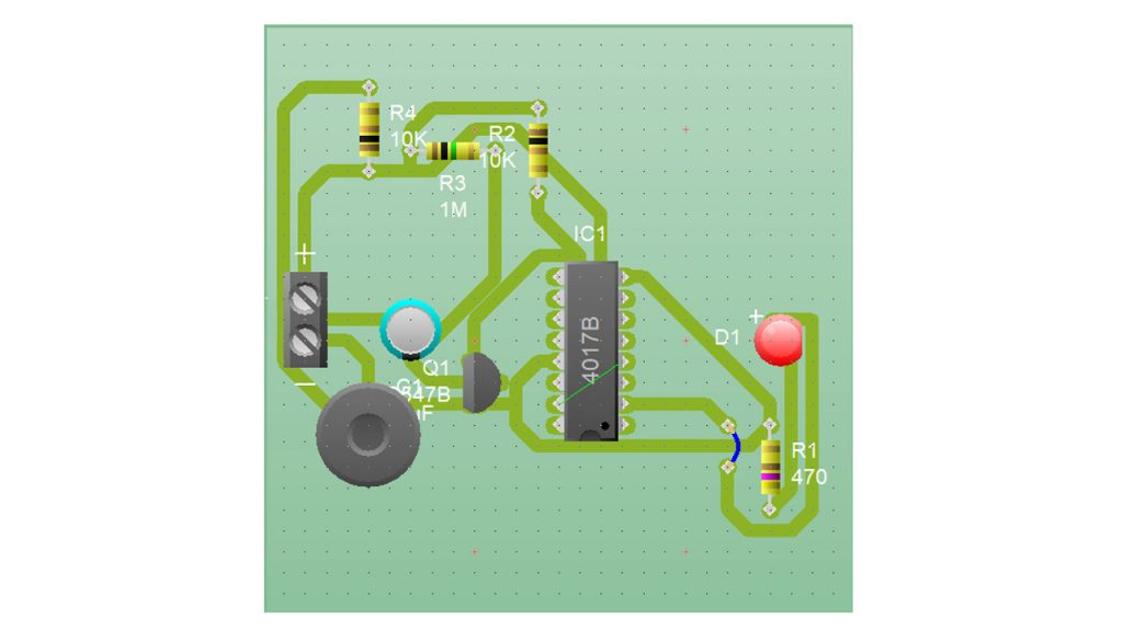 pcb-layout for clap switch circuit diagram