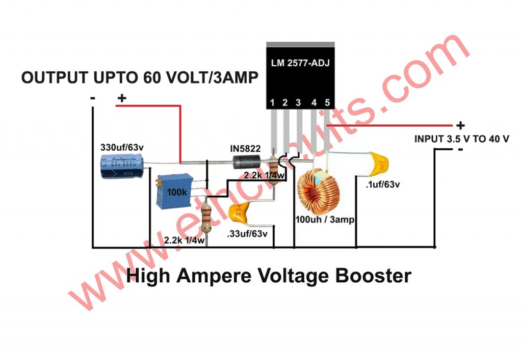 simple dc to dc boost converter circuit diagram