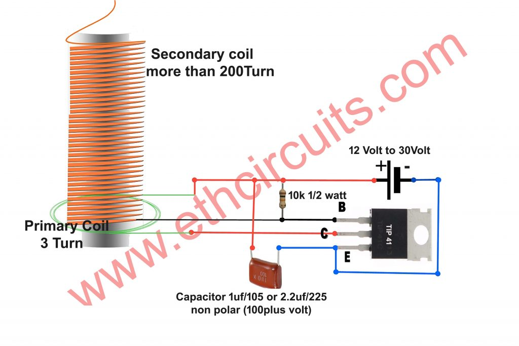 tesla coil circuit diagram