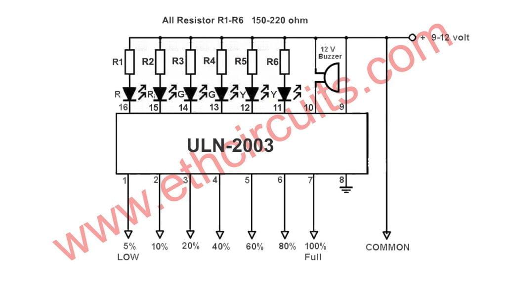 water level indicator with alarm circuit diagramwater level indicator with alarm circuit diagram