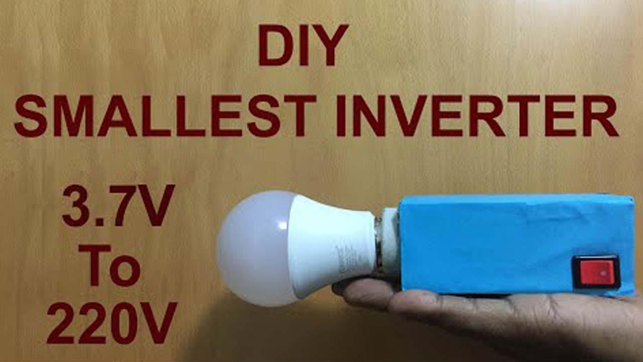 3.7 volt to 220 volt inverter circuit