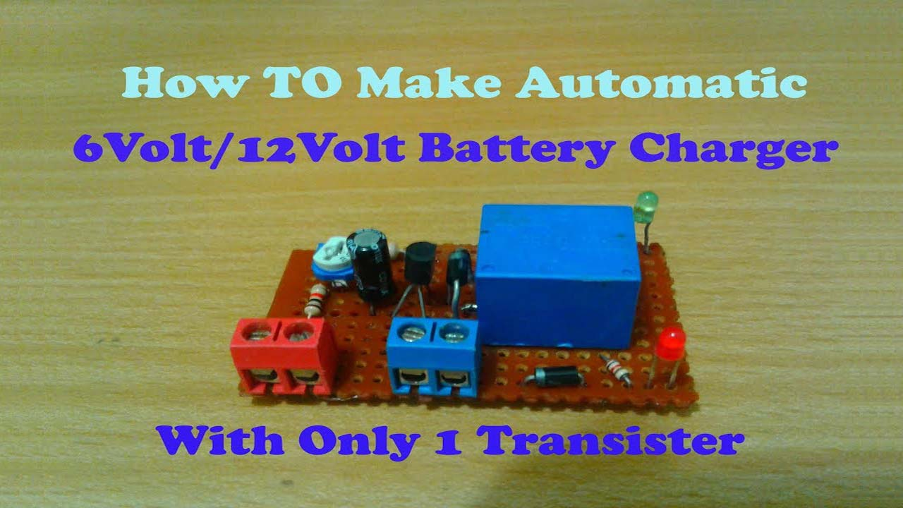 6V 12 V Auto Cut-off Battery Charger Circuit
