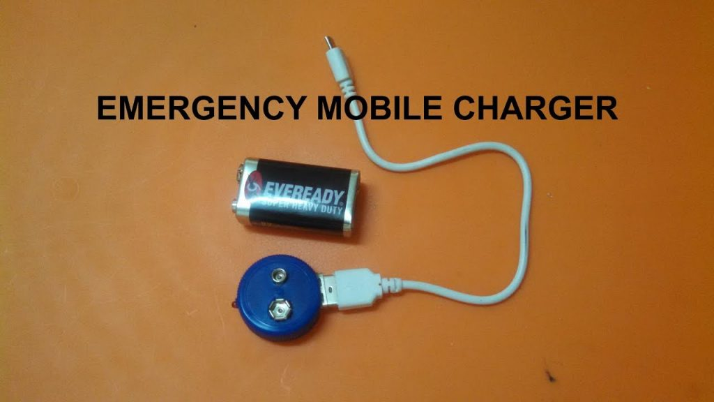 9 volt mobile battery charger circuit