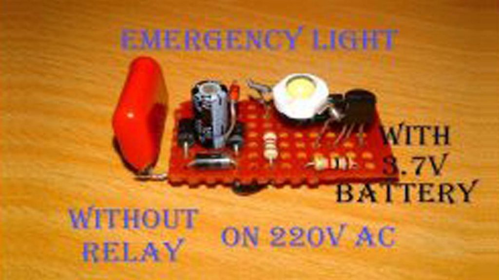 Automatic Emergency Light Circuit Diagram