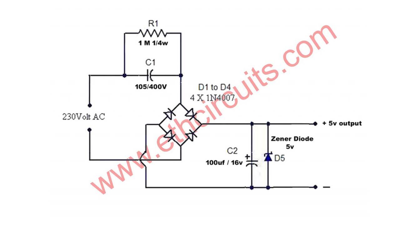 Capacitor Power Supply Circuit Diagram