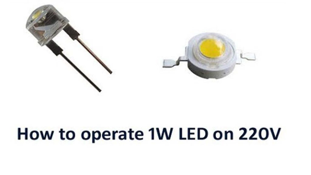 How to operate LED on 220 Volt