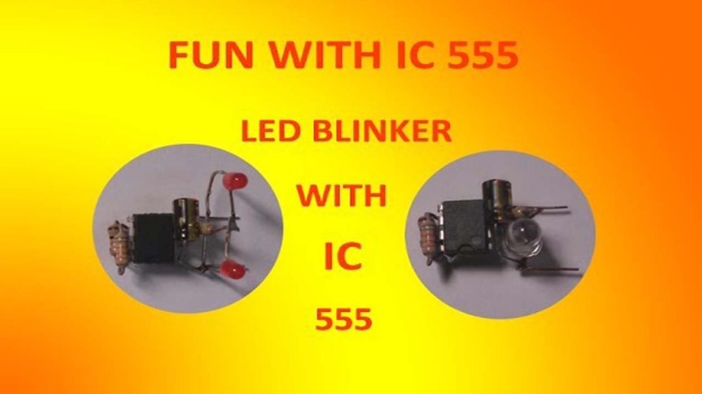 LED Blinker Circuit With IC555