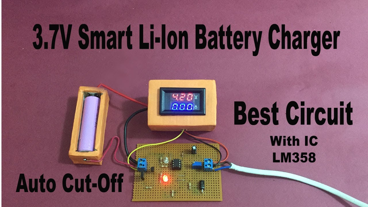 Li-ion Automatic Battery Charger circuit