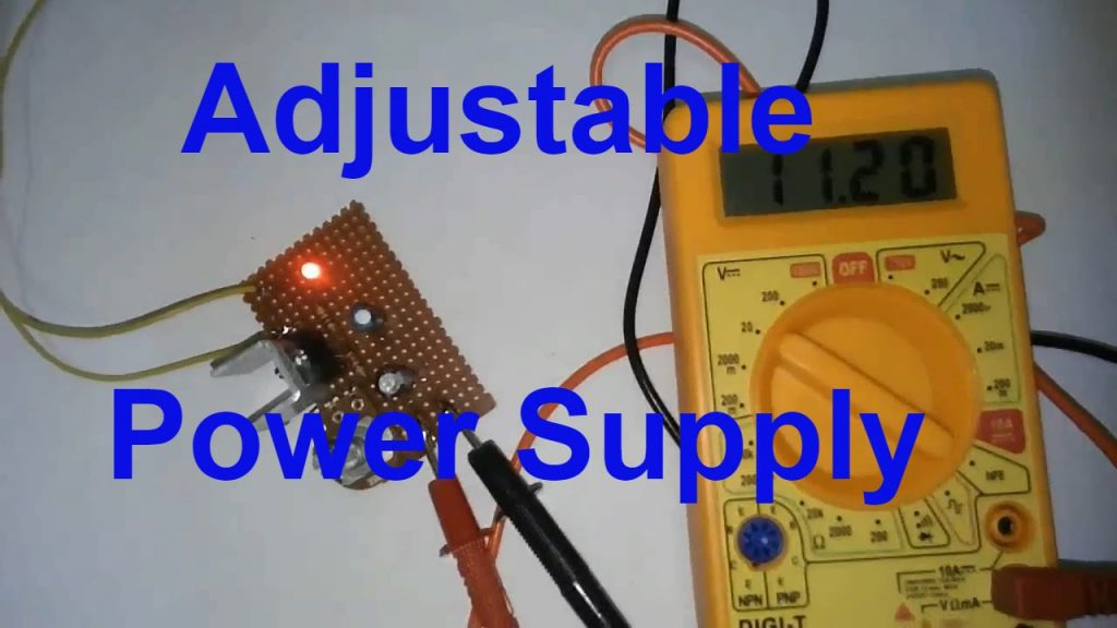 Variable Power supply with lm317 circuit diagram