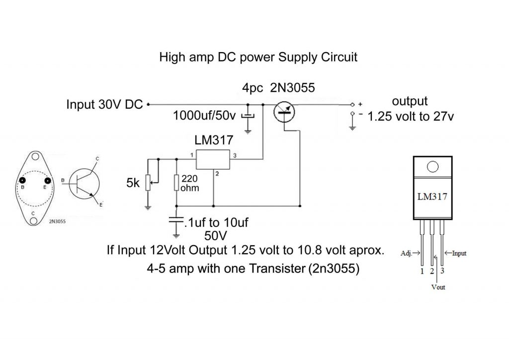 high current dc power supply circuit diagram