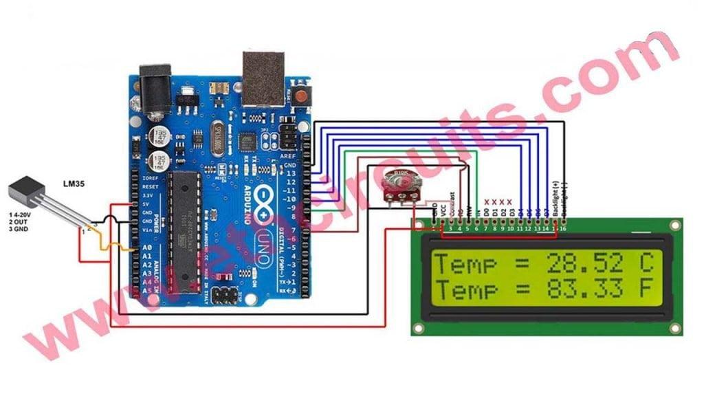 arduino temperature Sensor with display