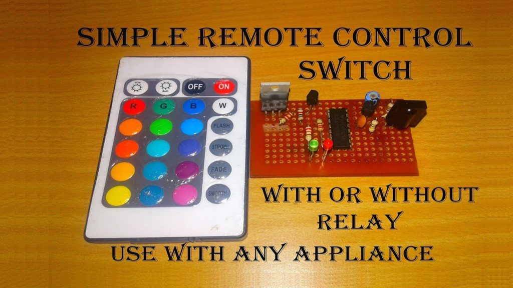 simple remote control circuit diagram with ic 4017
