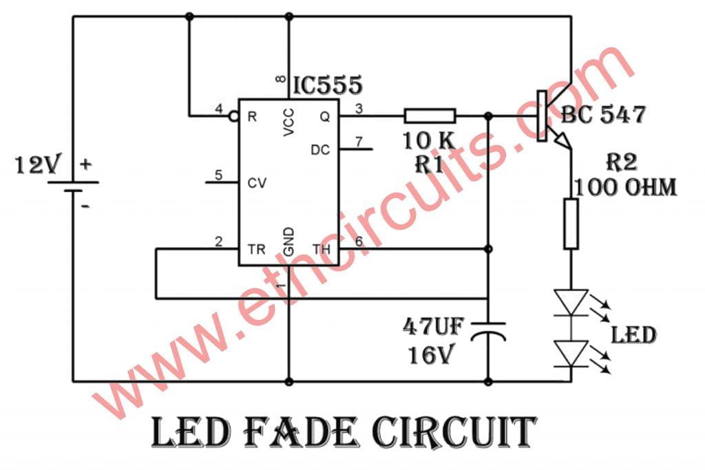 Fading LED Effect Circuit Diagram