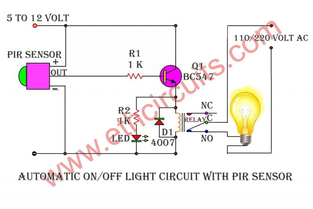 best motion sensor light switch circuit diagram
