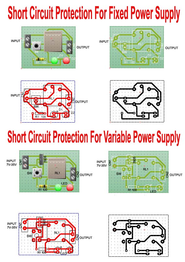 PCB Layout for short circuit protection circuit