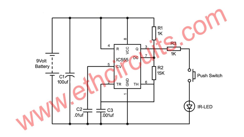 Remote control transmitter circuit diagram