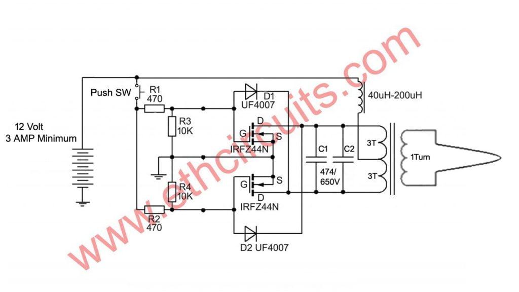 Induction Soldering Iron Circuit Diagram