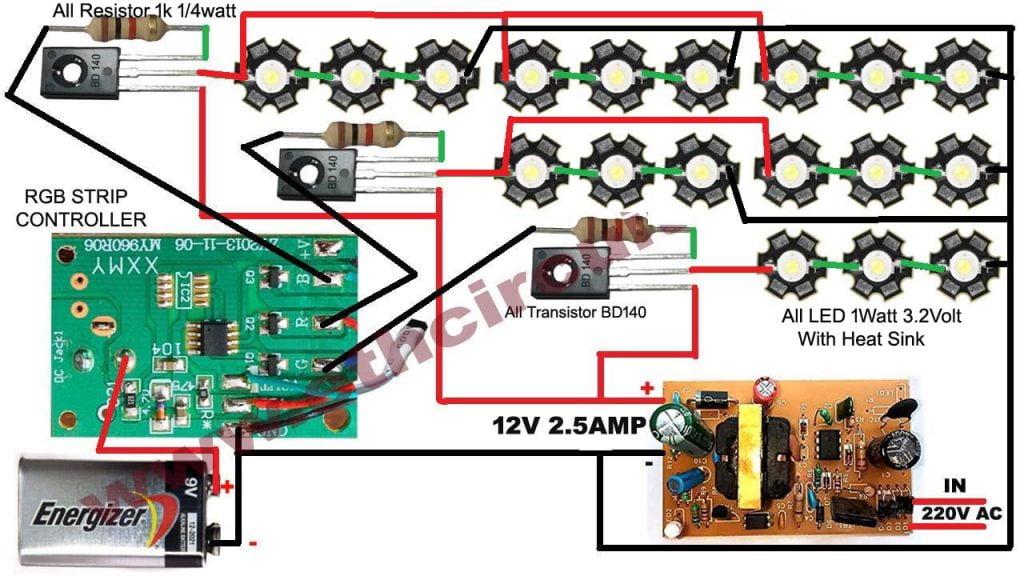 Remote Control light bulb circuit diagram