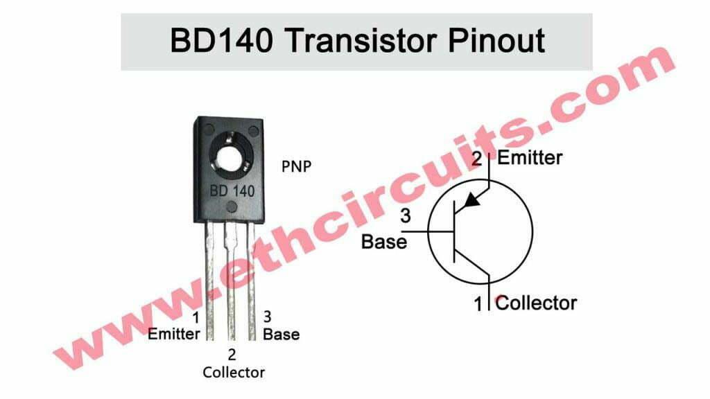Transistor bd140 pinout