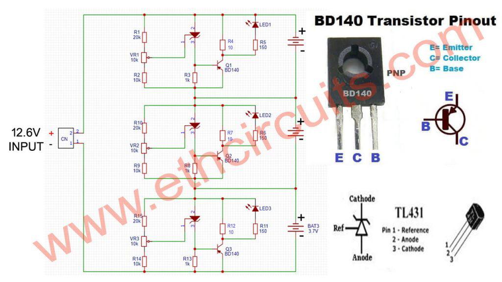 3s,4s,5s Diy BMS Circuit Diagram battery management system 18650