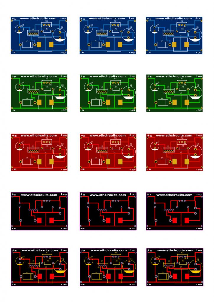 dc to dc buck converter circuit diagram pcb layout