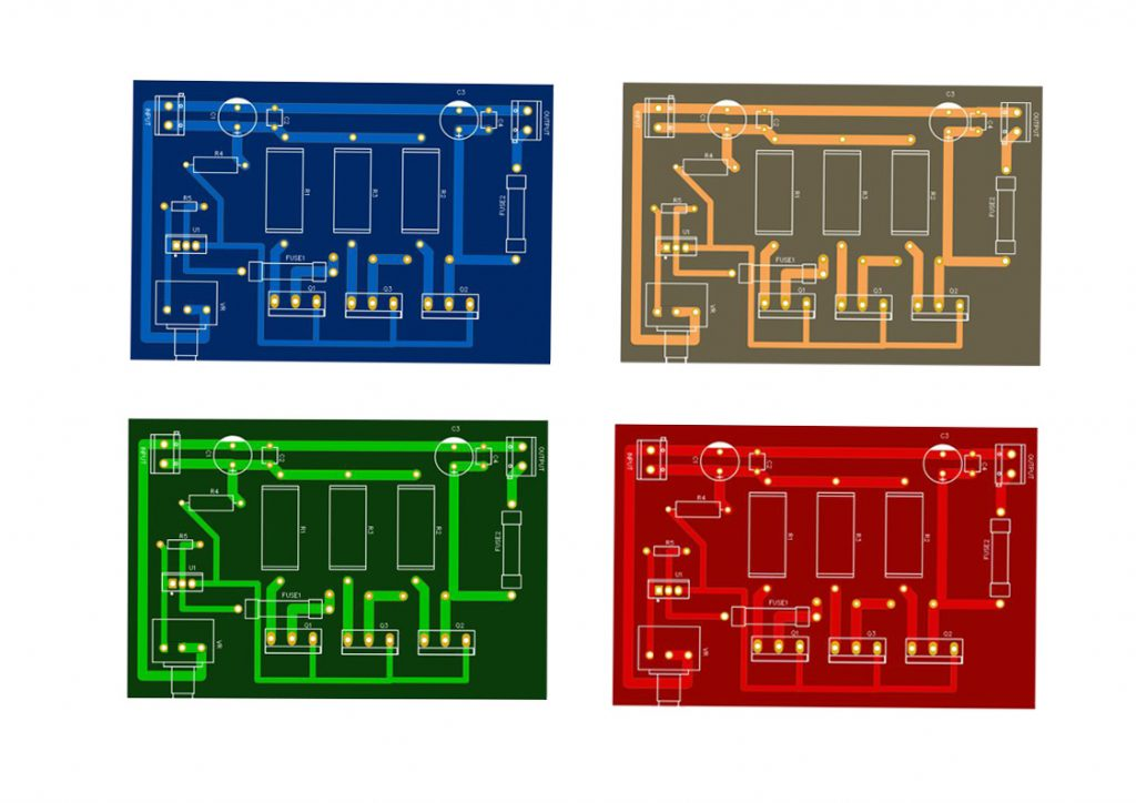 high ampere variable power supply circuit with pcb layout
