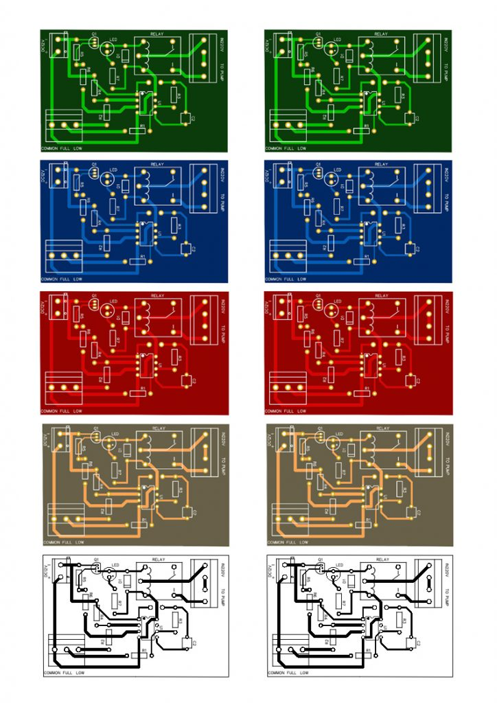 pcb layout water pump fully automatic controller