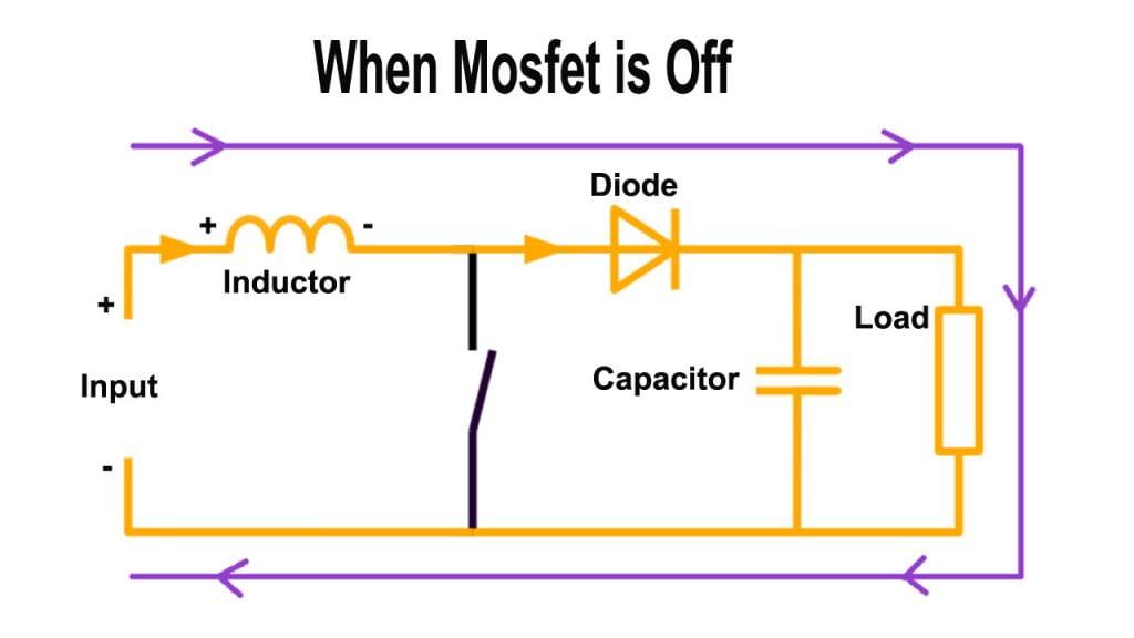 dc to dc converter circuit working