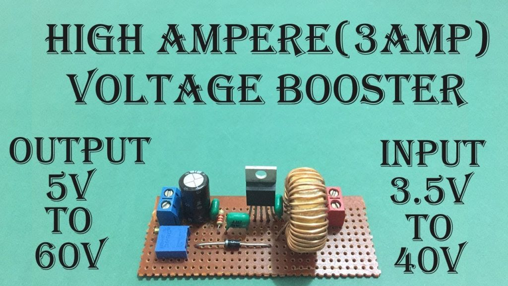 high ampere voltage booster circuit diagram